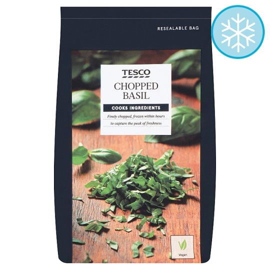 Tesco Chopped Basil 50G