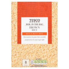 Tesco Easy Cook Boil In Bag Brown Rice 4 X 125G