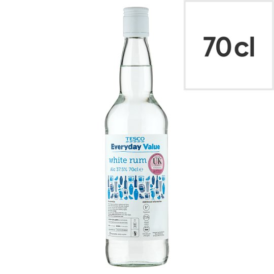 Tesco Everyday Value White Rum 70Cl