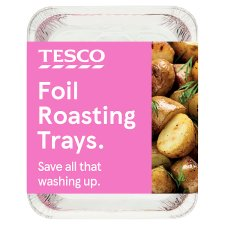Tesco Foil Roasting Trays 2 Pack 326Mmx260mm