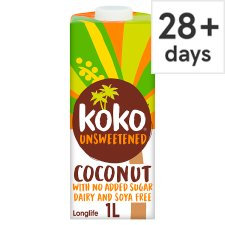 Koko Dairy Free Unsweetened Alternative Longlife Milk 1L