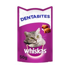 Whiskas Dental Dentabites Chicken Cat Treats 50G