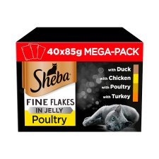 Sheba Pouch Poultry Chicken In Jelly 40 Pack X 85G