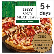 Tesco Stonebaked Spicy Meat Feast Pizza 305g Tesco Groceries