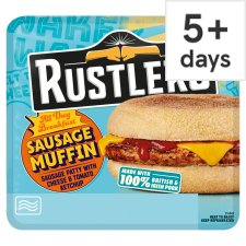 Rustlers All Day Breakfast Sausage Muffin 155G
