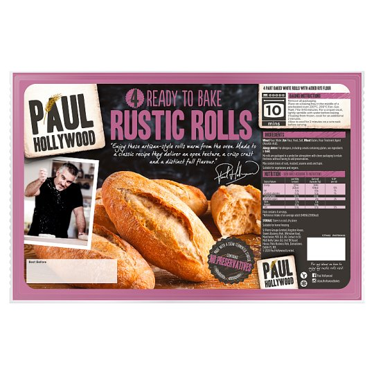 Paul Hollywood Bake At Home 4 Rustic Rolls