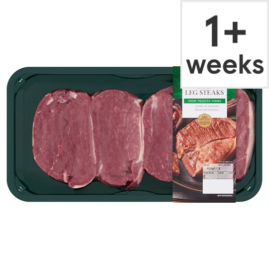 Tesco Lamb Leg Steaks 450G