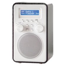Tesco Wooden Tower Dab And Fm Radio Black