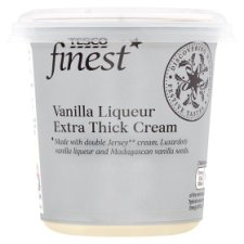 Tesco Finest Vanilla Liqueur Extra Thick Cream 250Ml