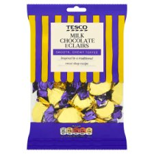 Tesco Milk Chocolate Eclairs 200G