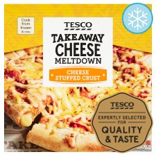 Tesco Stuffed Crust Cheese Pizza 431G