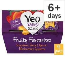 Yeo Valley Fruit Favourites Yogurt 4 X120g