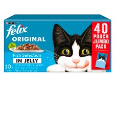 Felix Fish Selection In Jelly Pouches 40X100g