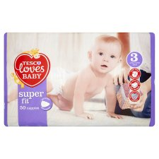 Tesco Loves Baby Superfit Size 3 Economy Pack 50