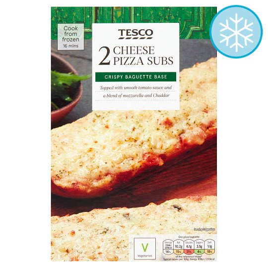 Tesco 2 Cheese Pizza Subs 260G