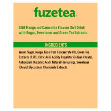 image 2 of Fuze Tea Mango &Chamomile Iced Tea 4X400ml