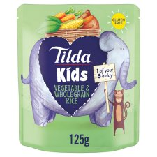 Tilda Kids Vegetable And Wholegrain Rice 125G