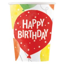 Tesco Party Balloons Paper Cup 8Pk