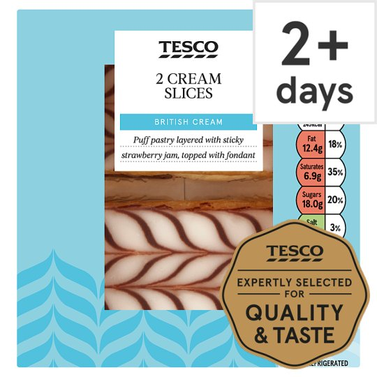 Tesco 2 Cream Slices