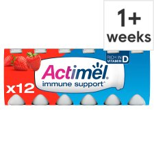 image 1 of Actimel Strawberry Yogurt Drink 12 X100g