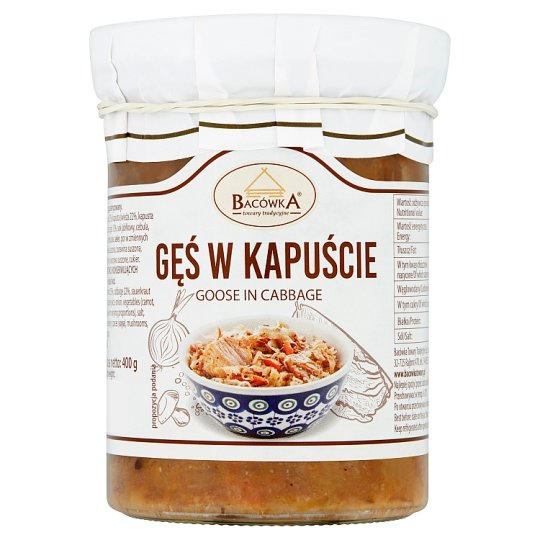 Bacowka Premium Goose In Cabbage 400G