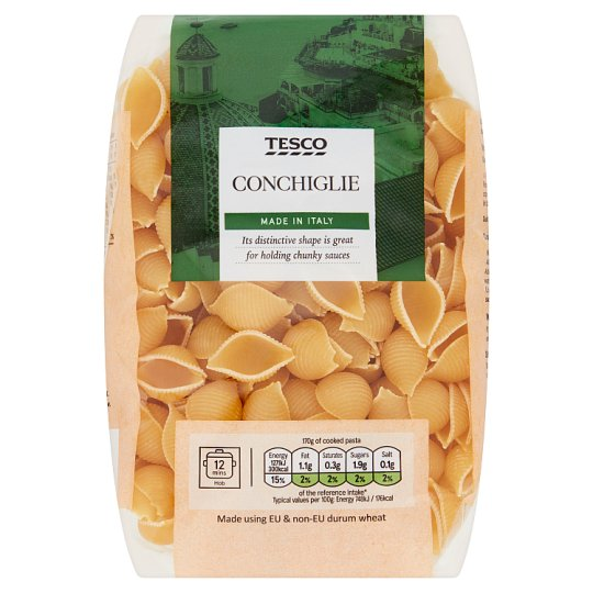 Tesco Conchiglie Pasta Shells 500G