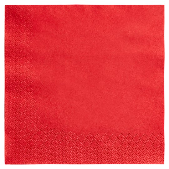 Tesco Napkins Red 40Cm 50 Pack 2Ply