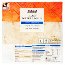 Tesco Plain Tortillas X8 320G