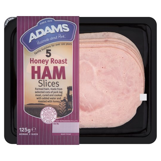 Adams Honey Roast Ham 125G