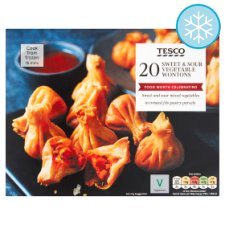 Tesco 20 Sweet And Sour Vegetable Wontons 300G