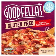 G/Fella Gluten Free Pepperoni Mushroom & Ham Pizza 349G