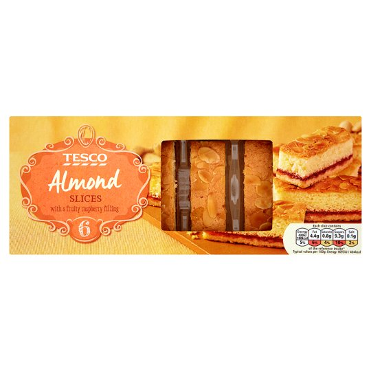 Tesco 6 Almond Slices