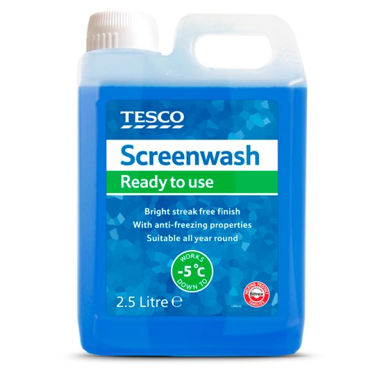 Tesco Screenwash Ready To Use 2.5L New