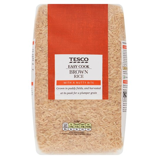 Tesco Easy Cook Brown Rice 2Kg