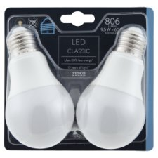 Tesco Led Classic 60W Edison Screw 2 Pack