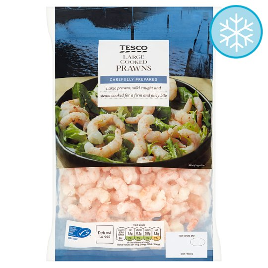 Tesco Large Cooked And Peeled Prawns 340G