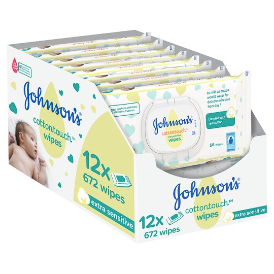 Johnson's Baby Cotton Touch Wipes 12X56 Pieces