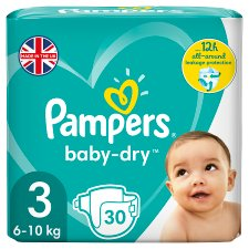 Pampers Baby Dry Size 3 Carry Pack 30 Nappies