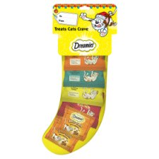 Dreamies Pet Cat Food Christmas Gifts Treats Stocking 130G