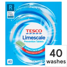 Tesco Limescale Prevention Tabs 40 Pack
