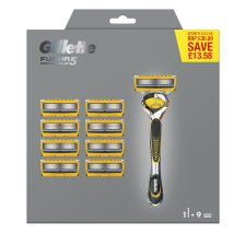 Gillette Fusion Proshield Razor Plus 9 Blades Price Marked
