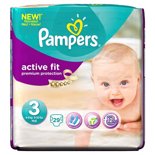Pampers Active Fit Size 3 Carry Pack 29 Nappies