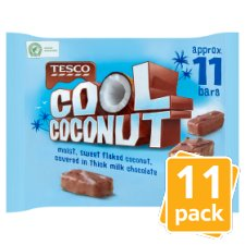 Tesco Cool Coconut Mini Bars 11 Pack 275G