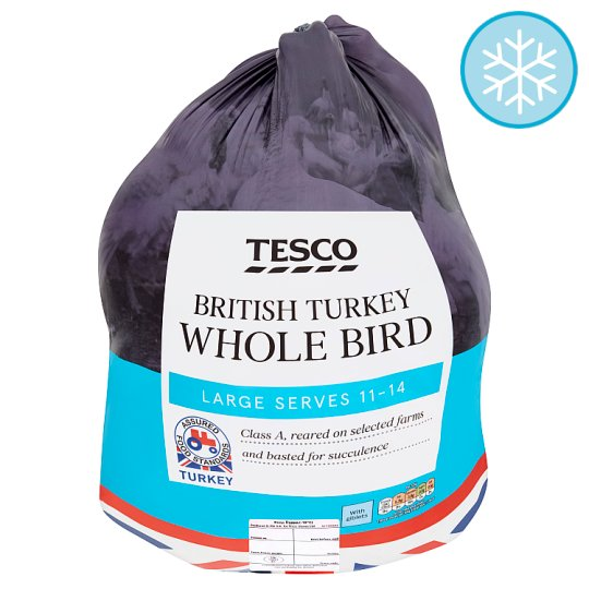 Tesco British Large Basted Frozen Turkey 5.3-6.9Kg