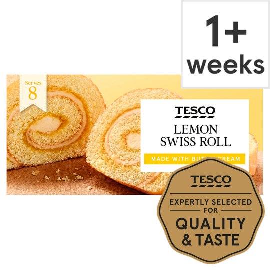 Tesco Lemon Swiss Roll ..