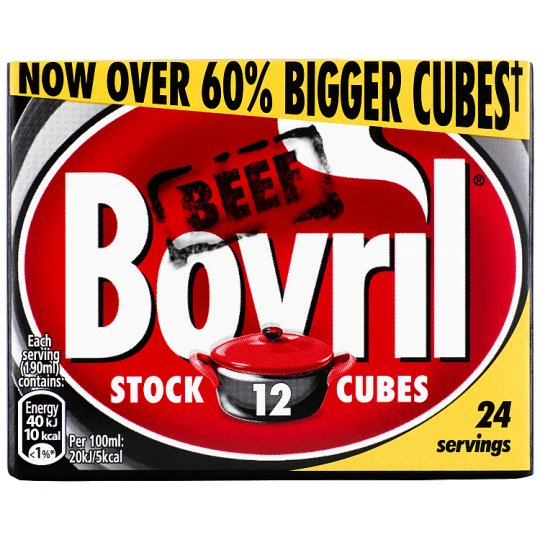 Bovril Beef Stock Cubes 12 Pack