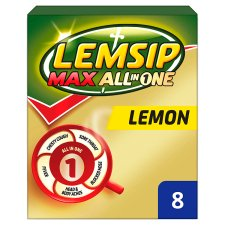 Lemsip Max All In One Lemon Sachets 8'S