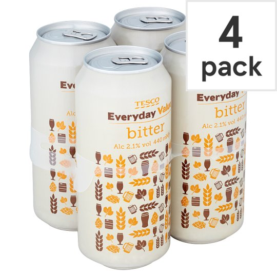 Tesco Everyday Value Bitter 2.1% 4X440ml