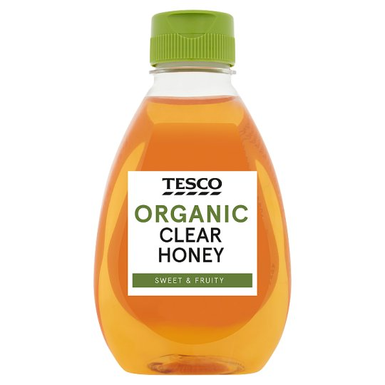 Tesco Organic Squeezy Clear Honey 340G