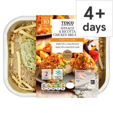 Tesco Spinach And Ricotta Chicken Breast 2 Pack 360G